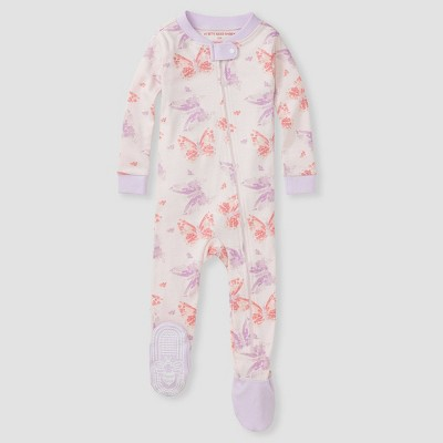 Burt's Bees Baby Girls' Butterfly Footed Pajamas - Purple