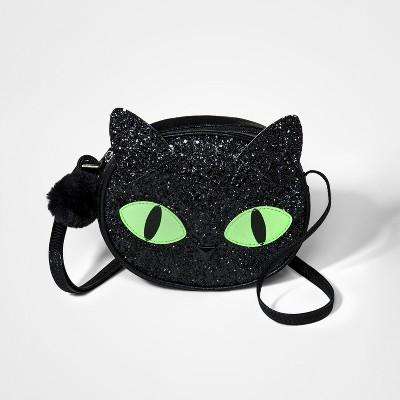 3ff7a7b6a4 Girls  Halloween Cat Crossbody Bag - Cat   Jack™ Black   Target