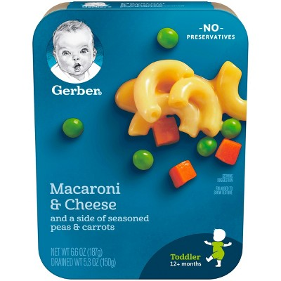 Gerber Lil' Entrees, Macaroni and Cheese with Seasoned Peas and Carrots - 6.6oz