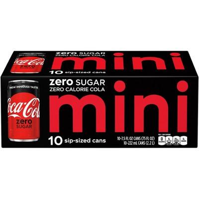 Coca-Cola Zero Sugar - 10pk/7.5 fl oz Mini-Cans