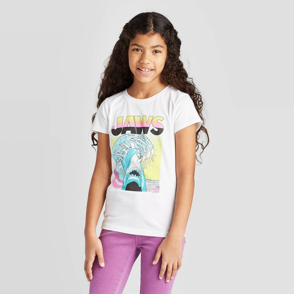 Image of Girls's JAWS T-Shirt - White, Girl's, Size: Large