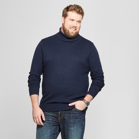 Men's Big & Tall Long Sleeve Turtleneck Pullover Sweater - Goodfellow & Co™ - image 1 of 3
