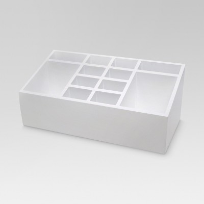 12 Section Cosmetic Organization System with Magnetic Strip White - Threshold™