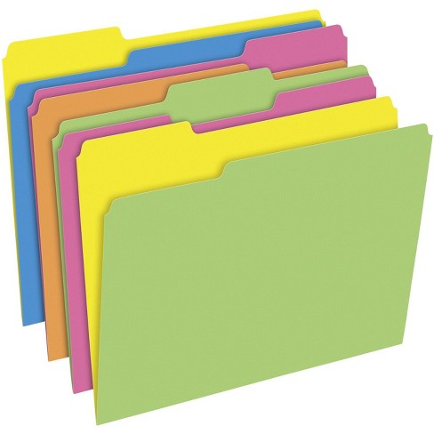 Pendaflex Twisted Glow File Folders, Letter Size, 3 Tab, Assorted Colors, pk of 24 - image 1 of 1