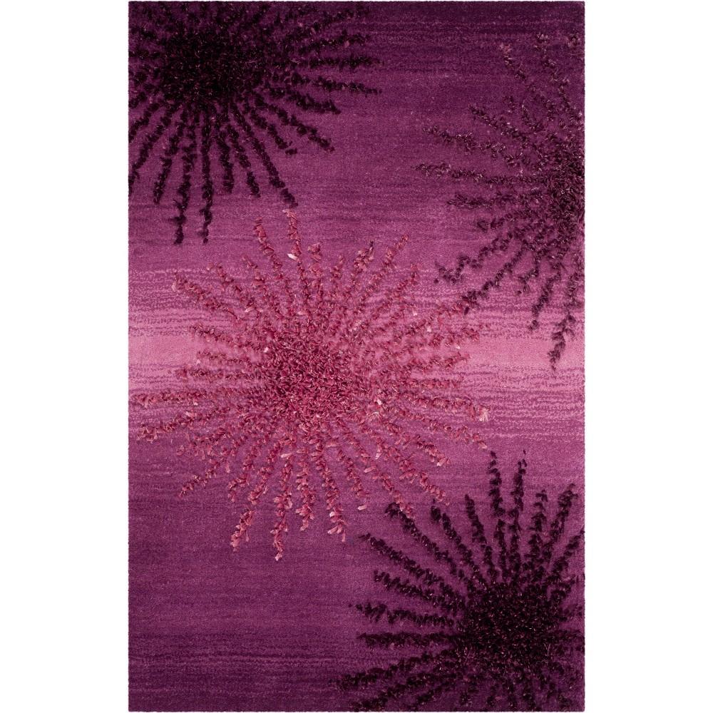 2 39 X3 39 Burst Tufted Accent Rug Purple Safavieh