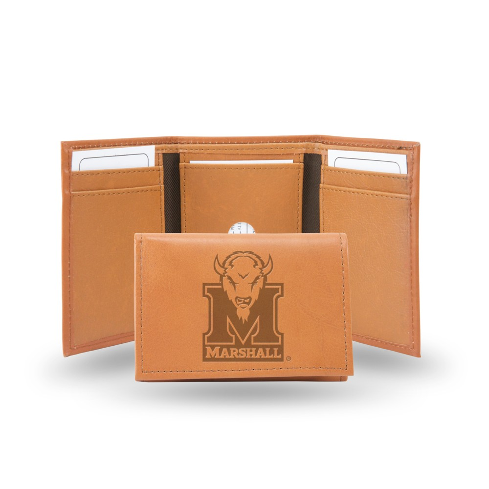 Marshall Thundering Herd Rico Industries Embossed Leather Trifold Wallet