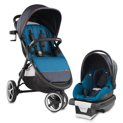 Evenflo Gold Verge3 Smart Travel System with SecureMax ICS - Sapphire