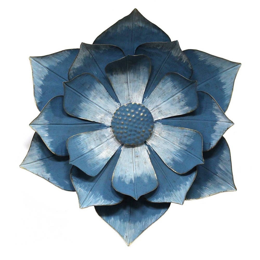 Ipomoea Metal Flower Blue - Stratton Home Decor