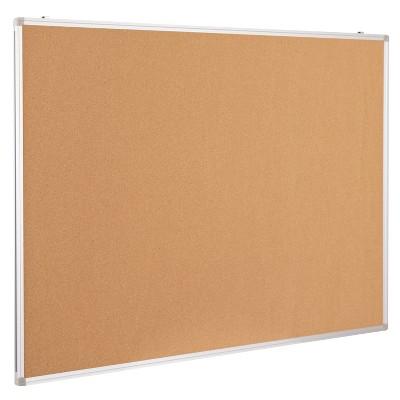 Flash Furniture HERCULES Series Wall Mounted Natural Cork Board with Aluminum Frame