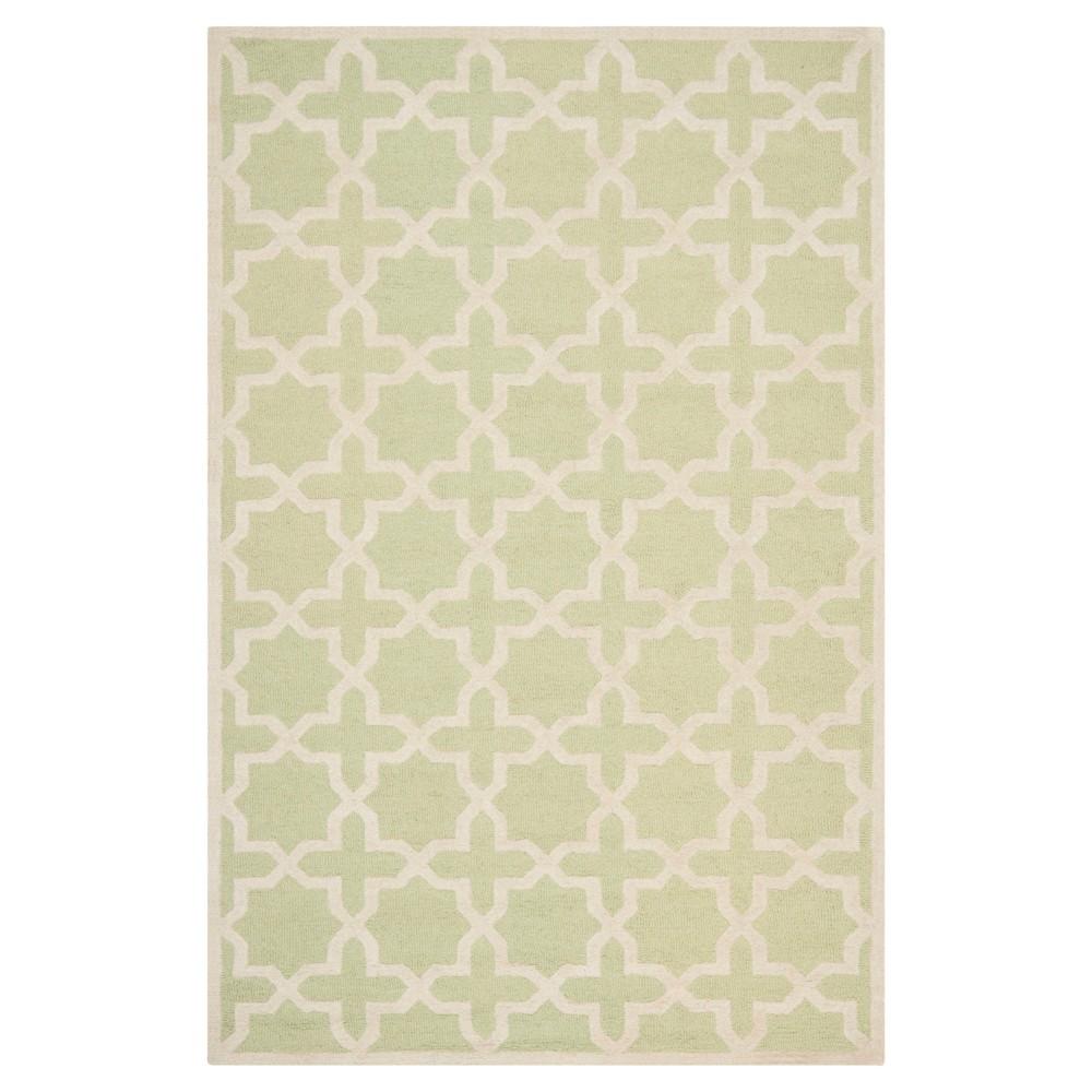 6' x 9' Marnie Rug - Safavieh, Light Green/Ivory