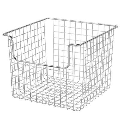 mDesign Metal Open Front Kitchen Food Storage Basket