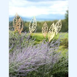 Shimmering Leaf Stakes, Set of 3 - Gardener's Supply Company