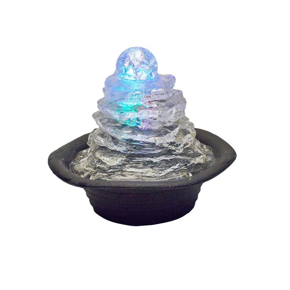 "Image of ""7.75"""" H Resin Outdoor Fountain - Black - Ore International"""