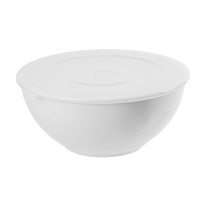 Plastic Serving Bowl With Lid 185oz - White