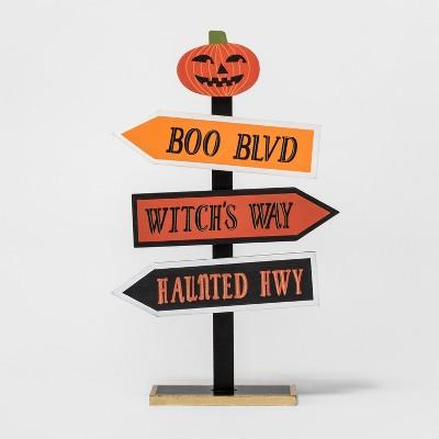 Halloween Pumpkin Arrows Tabletop Sign - Hyde and Eek! Boutique™