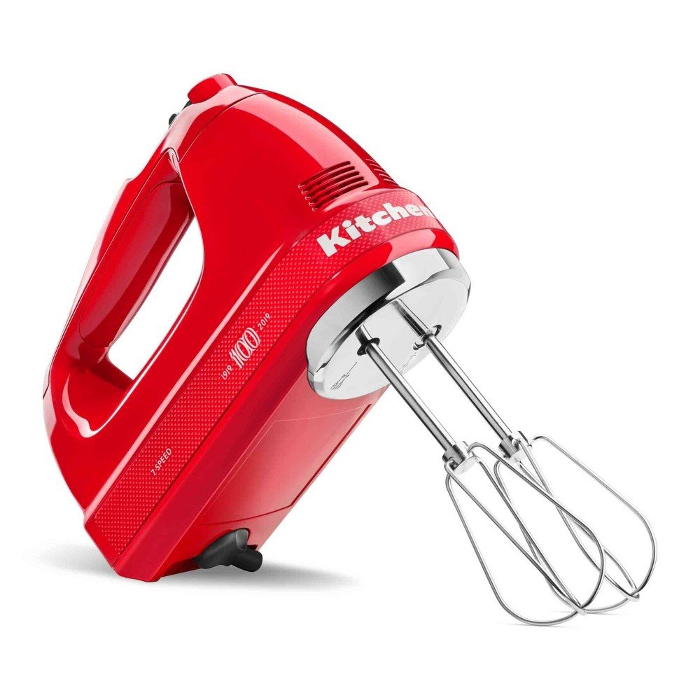 Image of KitchenAid 100 Year Limited Edition Queen of Hearts 7 Speed Hand Mixer Passion Red - KHM7210QHSD