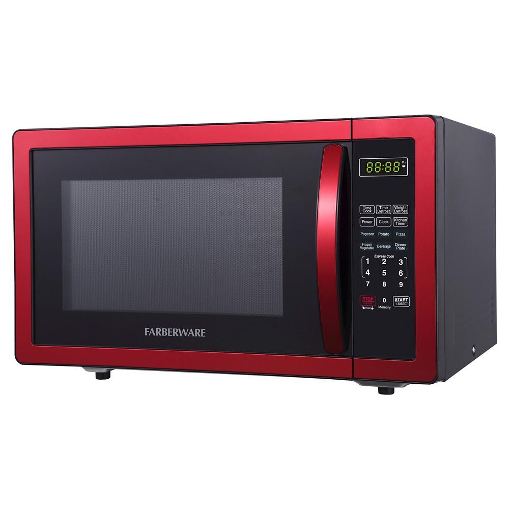 Farberware 1.1 Cu. Ft. 1000 Watt Microwave Oven - Red