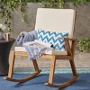 Champlain Acacia Wood Patio Rocking Chair - Christopher Knight Home - image 2 of 4