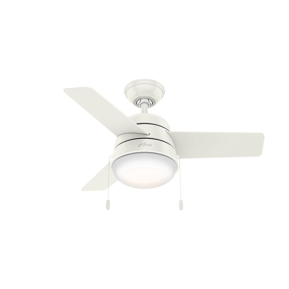 "Image of ""36"""" Aker Fresh LED Lighted Ceiling Fan Fresh White - Hunter Fan"""