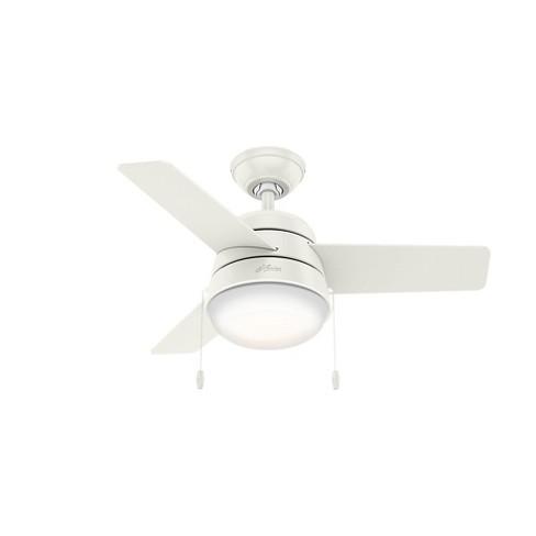36 Led Aker Ceiling Fan Includes Light Bulb White Hunter Target
