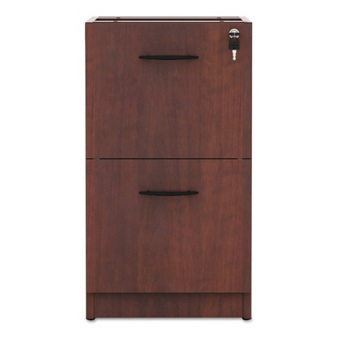Alera Valencia 2 Drawer File Cabinet Locking Cherry