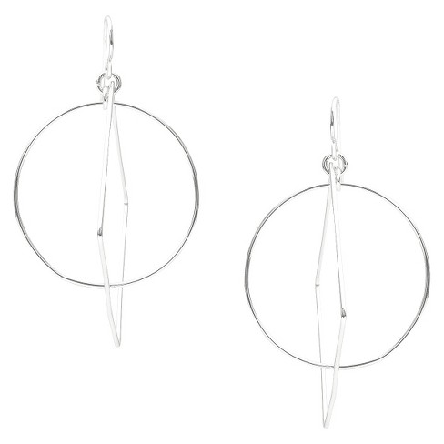 Women's Tressa Collection Sterling Silver Squared Circle Dangle Earrings - image 1 of 4
