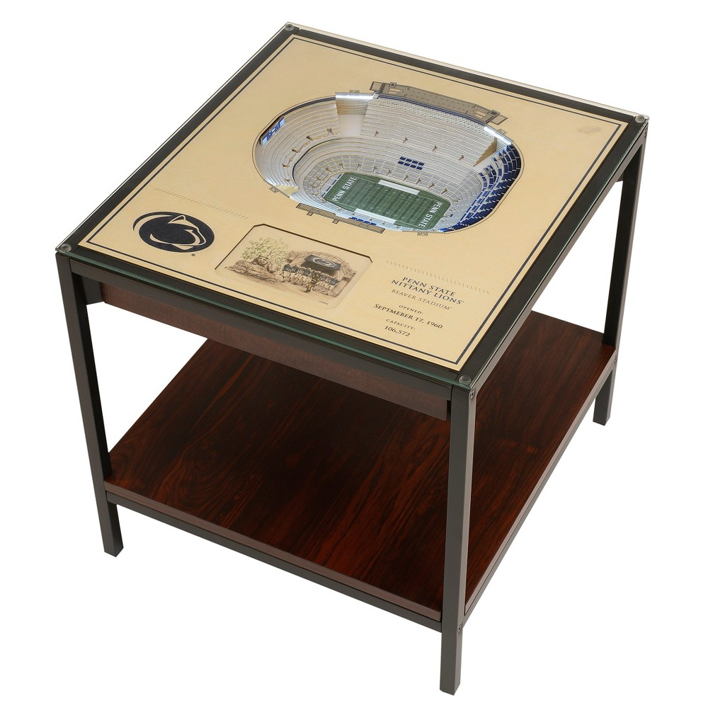 NCAA Penn State Nittany Lions 25 Layer Lighted StadiumView End Table