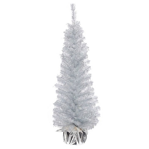 3' Unlit Slim Silver Pine Artificial Christmas Tree - image 1 of 1