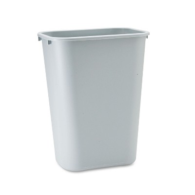 Rubbermaid Commercial Deskside Plastic Wastebasket Rectangular 10 1/4 gal Gray 295700GY