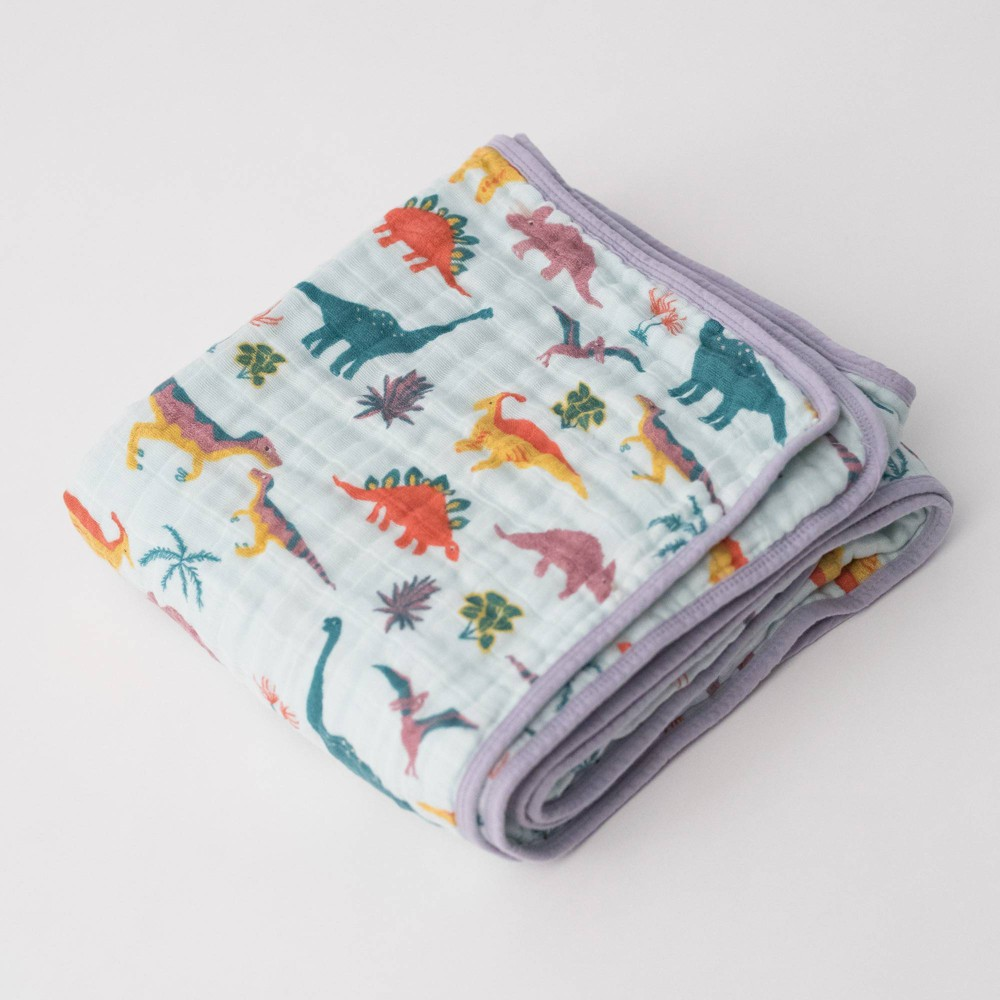 Image of Little Unicorn 4-Layer Cotton Muslin Quilt - Embroidasaurus