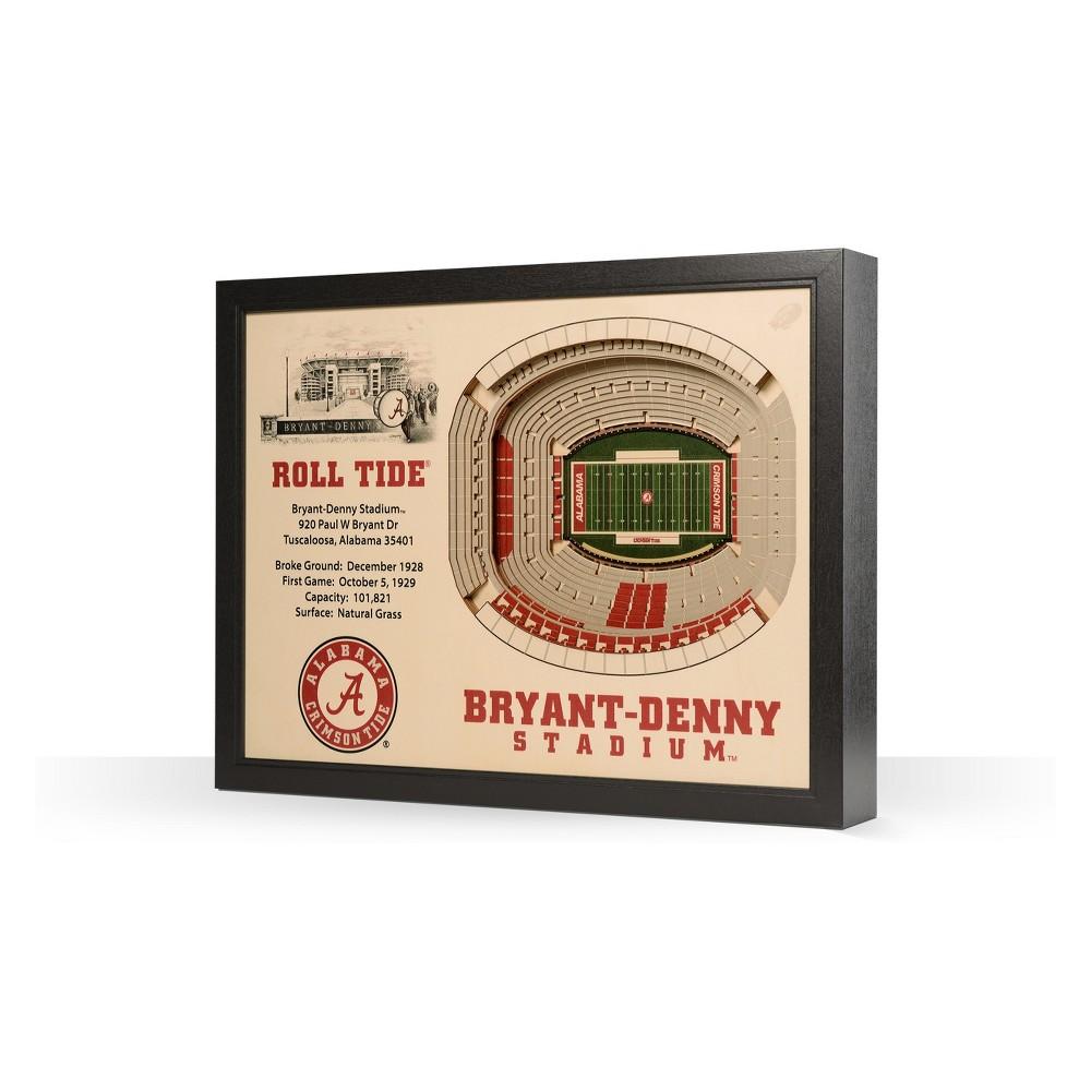 NCAA Alabama Crimson Tide Stadium View Wall Art - Bryant-Denny Stadium