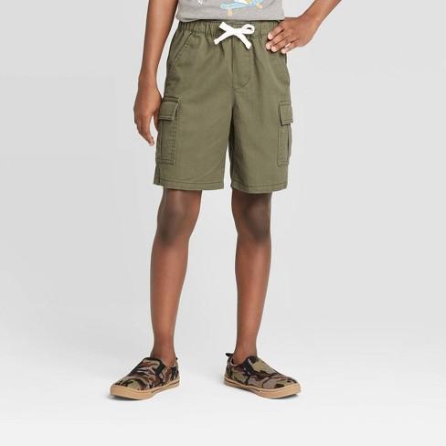 Boys' Pull-On Cargo Shorts - Cat & Jack™ Olive - image 1 of 3