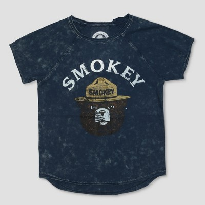 Toddler Boys' Smokey Bear Face Short Sleeve Raglan T-Shirt - Navy 2T