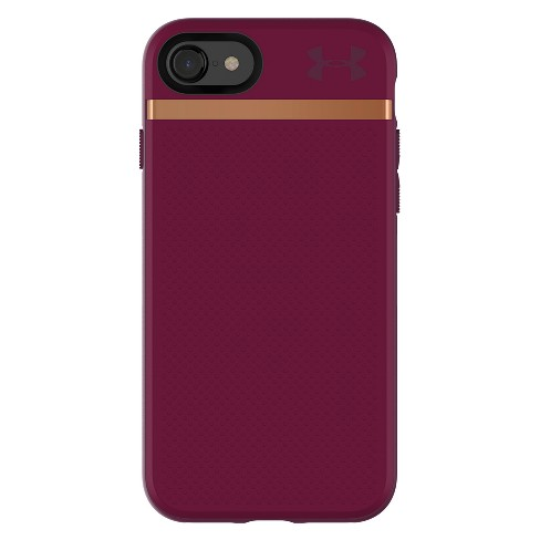Under Armour iPhone 8/7 Case UA Stash - Maroon/Currant/Rose Gold - image 1 of 4