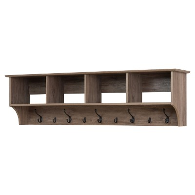 Douglas 60  Hanging Entryway Shelf - Drifted Gray - Prepac