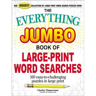 photograph about Large Printable Word Search identify The Almost everything Jumbo Ebook of Huge-Print Term Lookups - (Almost everything(r)) through Charles Timmerman