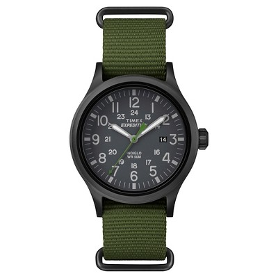 Men's Timex Expedition Scout Watch with NATO Nylon Strap - Black/Green TW4B047009J