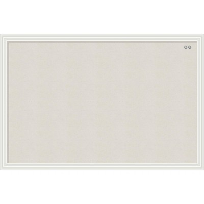 U Brands Linen Bulletin Board 30 x 20 Inches White Décor Frame 2074U00-01