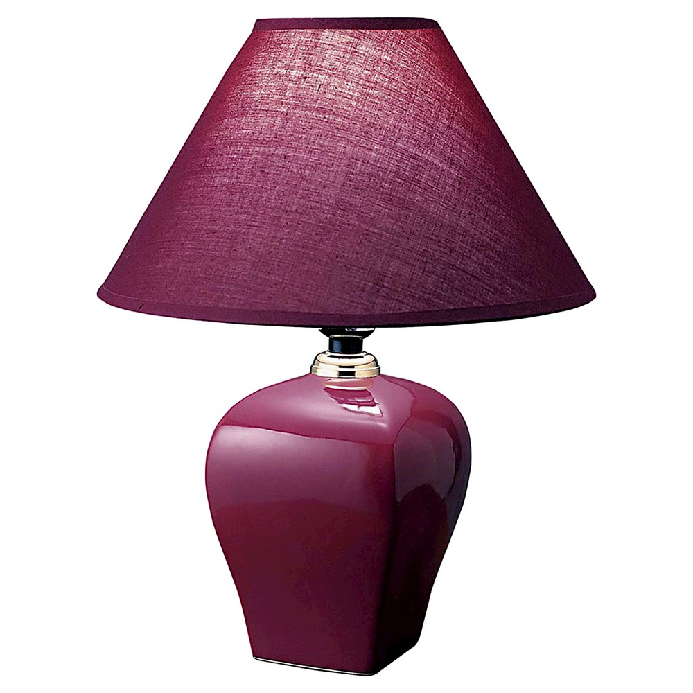 Image of Ore International Table Lamp - Burgandian Wine, Burgandian Red