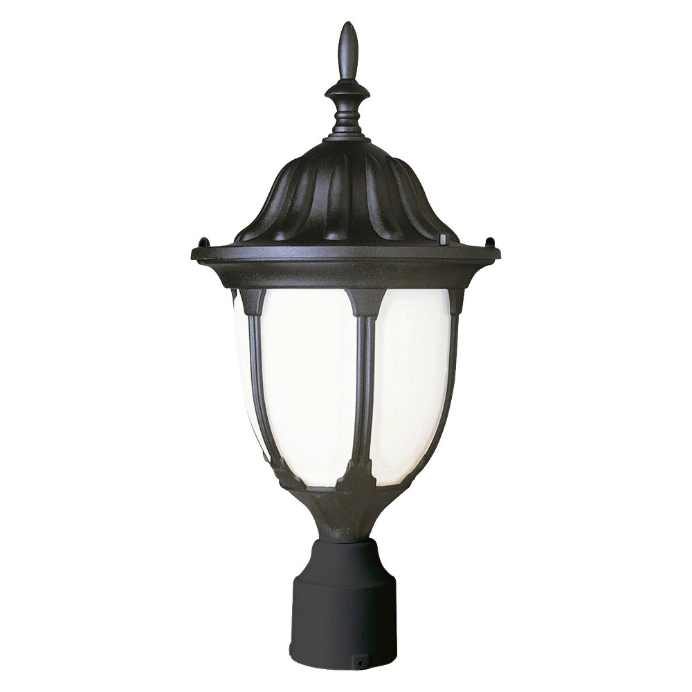 "Image of ""Rothschild 19"""" Post Top Light in Black"""