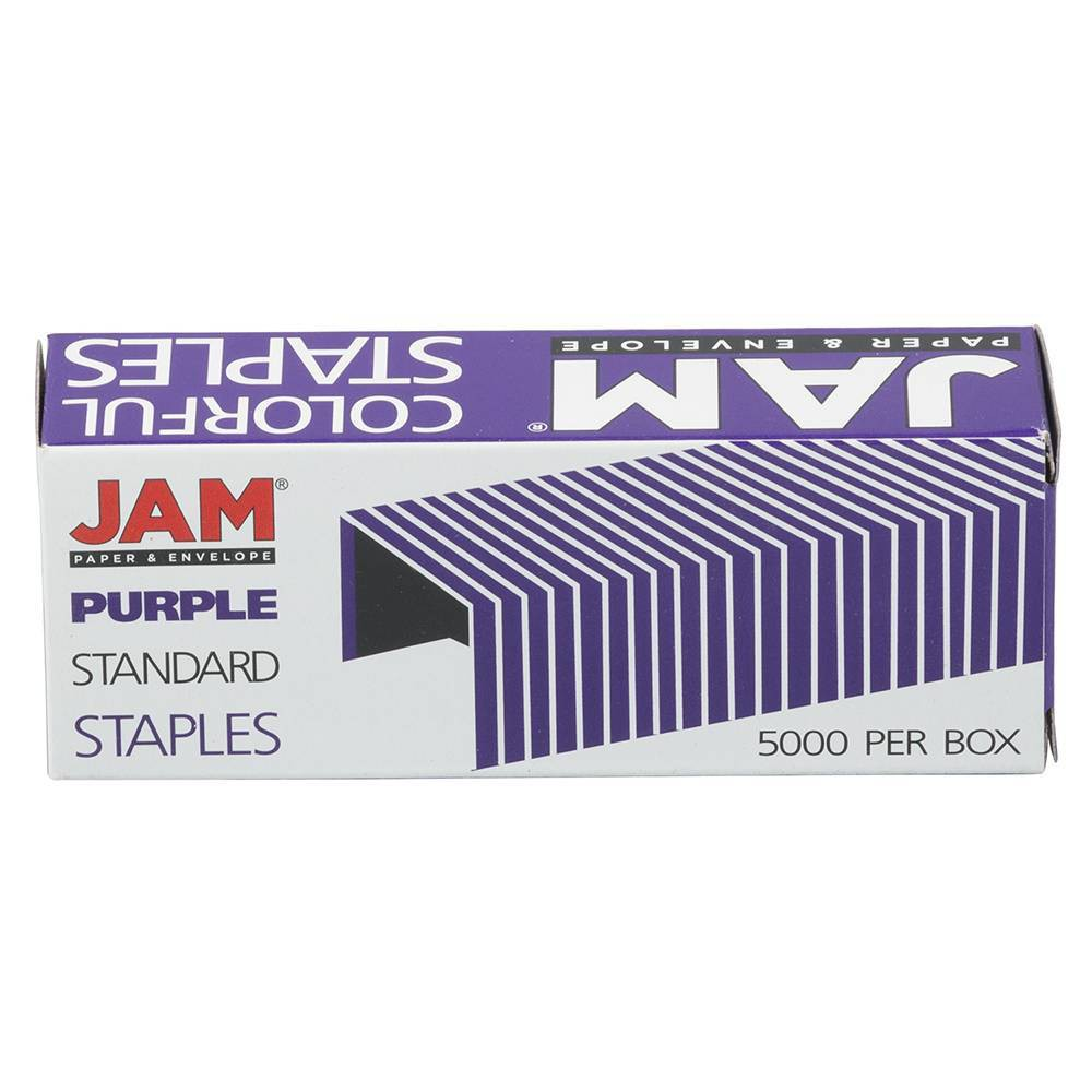 Jam Paper 5000ct Standard Size Colorful Staples Violet Purple