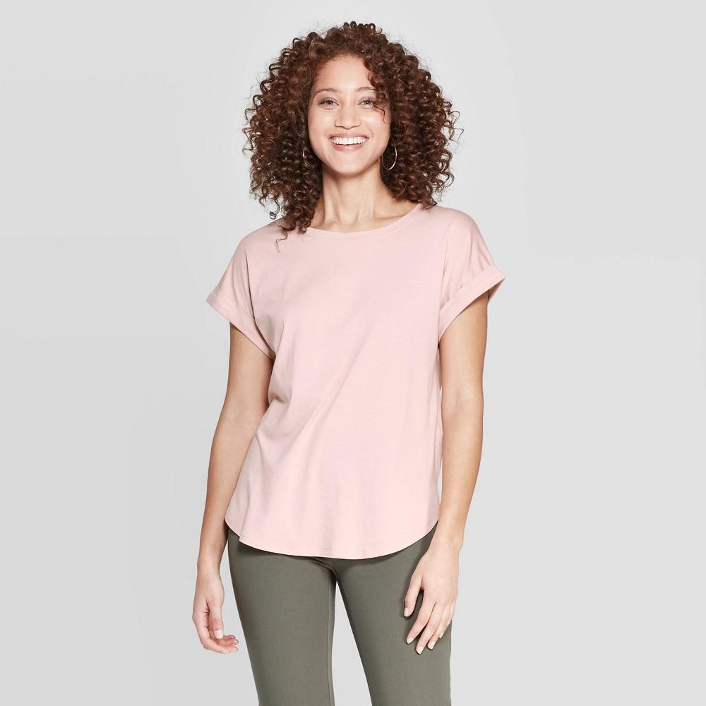 Women's Slim Fit Short Sleeve Crewneck T-Shirt - A New Day Pink Xxl