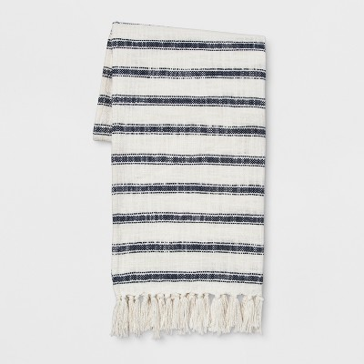 Stripe Throw With Tassels 50 X60  Blue - Threshold™