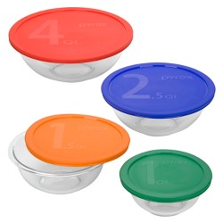 Pyrex 8pc Smart Essentials Mixing Bowl Set