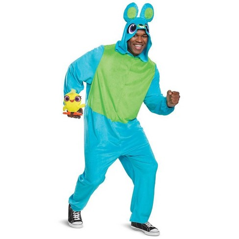 Toy Story 4 Halloween Costumes.Adult Toy Story Bunny Union Suit Halloween Costume