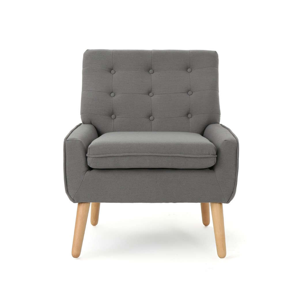 Eilidh Mid Century Tufted Accent Chair Steel Gray - Christopher Knight Home, Steel Grey