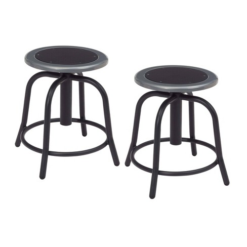 Outstanding 2Pk Adjustable Designer Stool Black Hampton Collection Inzonedesignstudio Interior Chair Design Inzonedesignstudiocom