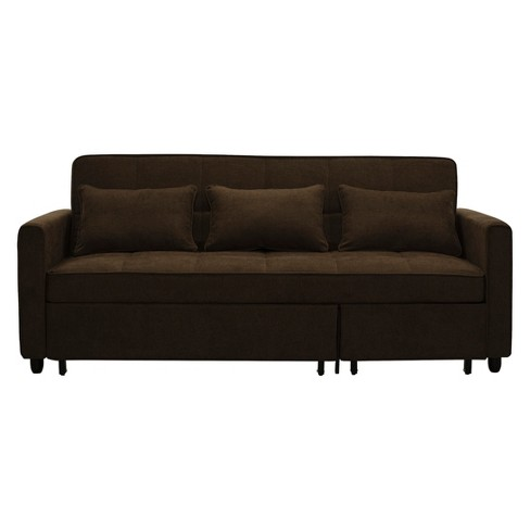 Scarlett Convertible Sofa Dark Brown - Relax A Lounger - image 1 of 7