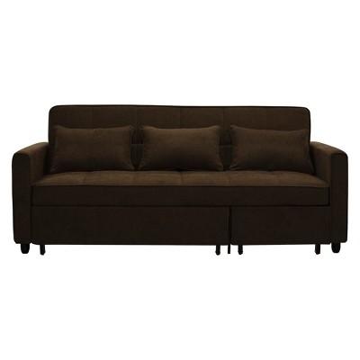 Scarlett Convertible Sofa Dark Brown   Relax A Lounger