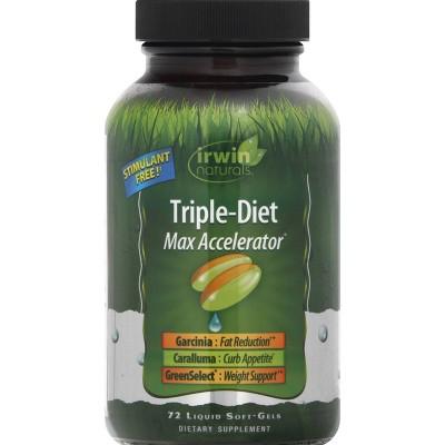 irwin naturals Triple-Diet Max Accelerator Dietary Supplement Liquid Softgels - 72ct